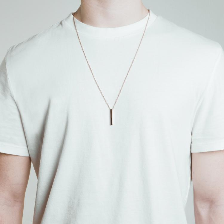 Minimal Bar Necklace - Rose Gold