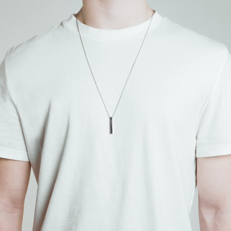 Minimal Bar Necklace - Silver
