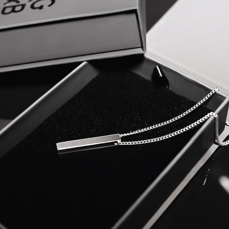 Silver Bar Necklace - Our Signature Minimal Bar Necklace in Silver has been crafted with minimalist styling in mind. An essential piece for every wardrobe.