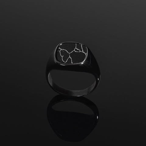 Minimal Signet Ring in Black