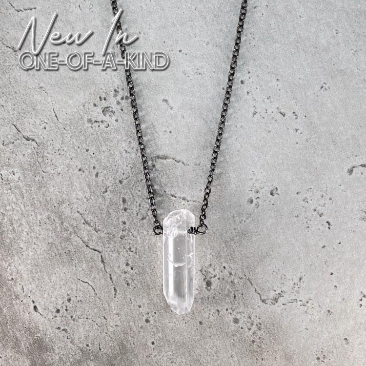 Talisman Necklace - Raw Quartz Crystal