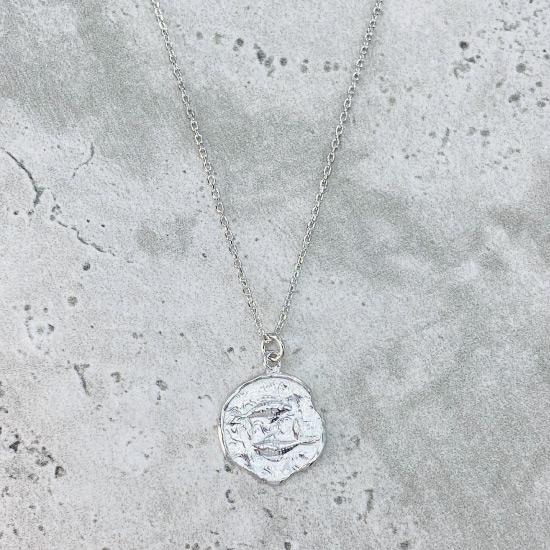 Pisces Star Sign Necklace - Fine chain necklace featuring a delicate star sign pendant. Birth date February 19 - March 20 is for Pisces. Available in Silver, Gold, and Rose Gold.