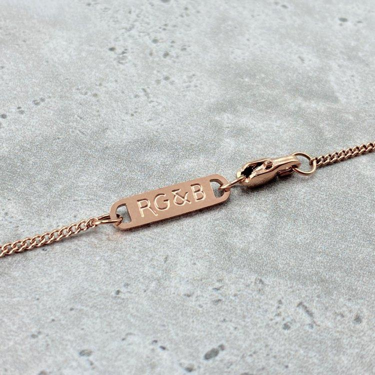 Rose Gold Bar Necklace - Our Signature Minimal Bar Necklace in Rose Gold has been crafted with minimalist styling in mind. An essential piece for any wardrobe.