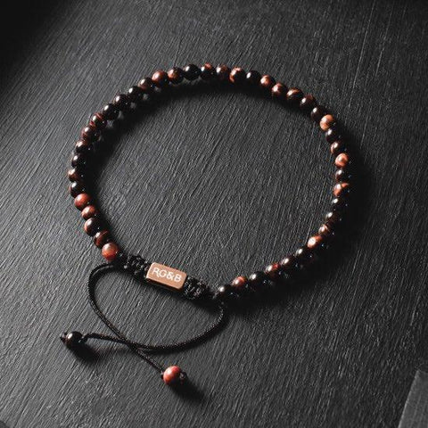 Minimal Collection - Red Tiger Eye Bead Bracelet