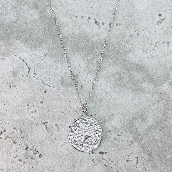 Star Sign Coin Necklace - Scorpio
