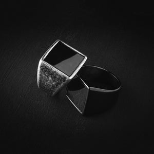 Aged Silver Signet Ring - S&B