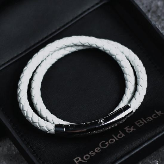 Woven Adjustable Double - Silver & White