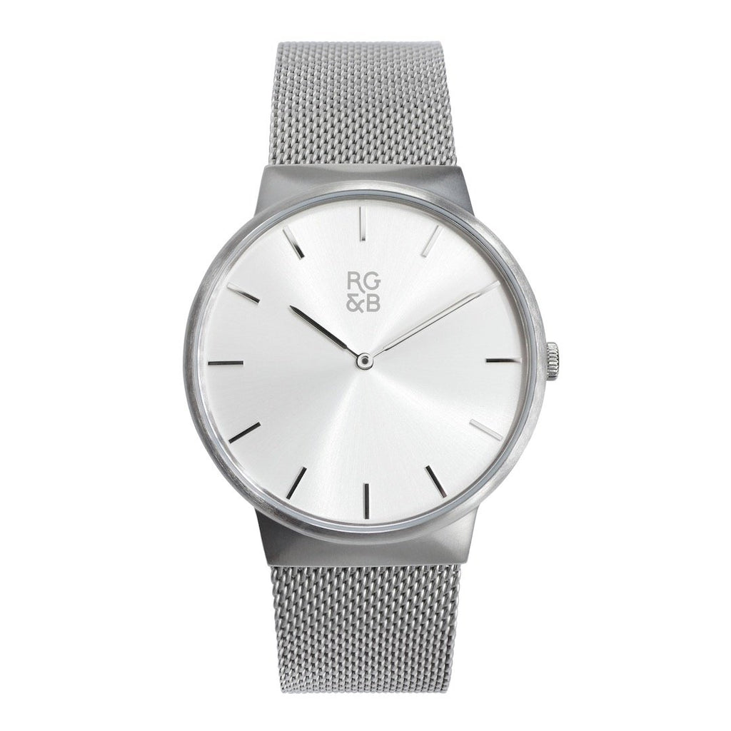 Minimal Silver Watch - Teaching Men's Fashion