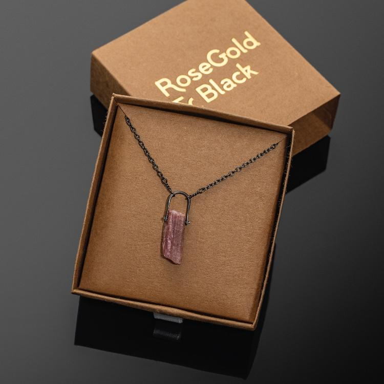 Pink Tourmaline Necklace - Our Pink Tourmaline Necklace Features a Hand-Selected & Specimen Grade Pink Tourmaline Crystal and is absolutely hand-crafted.