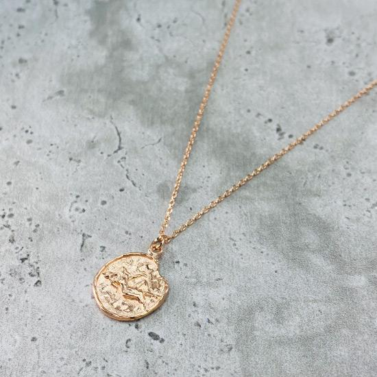 Star Sign Coin Necklace - Virgo