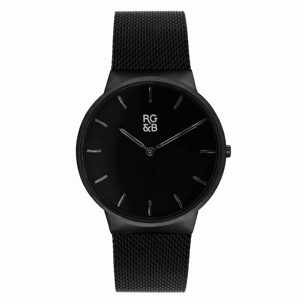 Minimal Black Watch - Our Minimal Black Watch Features a Brushed Black Stainless Steel Case and Strap, Gunmetal Hands and Hour Markers Along with our Signature Logo.