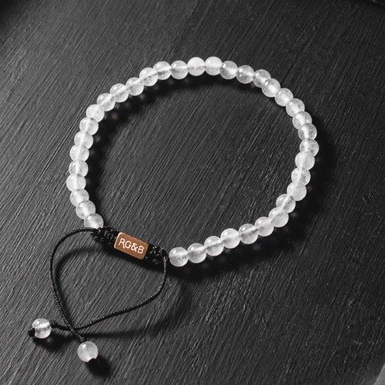 Minimal Collection - White Jade Stone Bead Bracelet