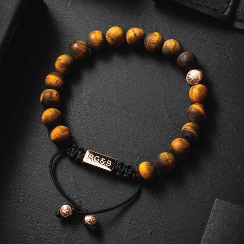 Tiger Eye Bead Bracelet - Premium