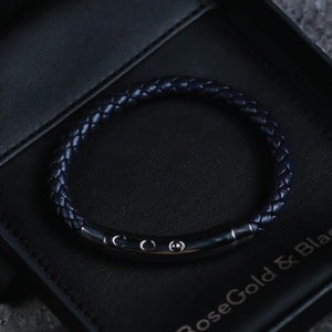 Woven Adjustable Single - Silver & Navy