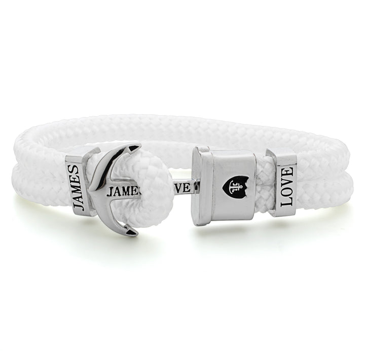 Anker Armband James Love weiss