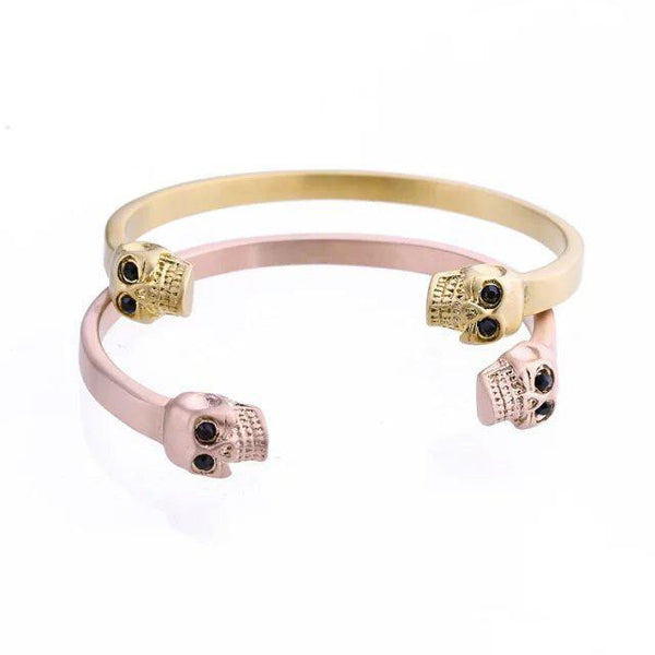 2017 New Fashion  Skull Bracelets Bangles for Man and Women Stainless Steel