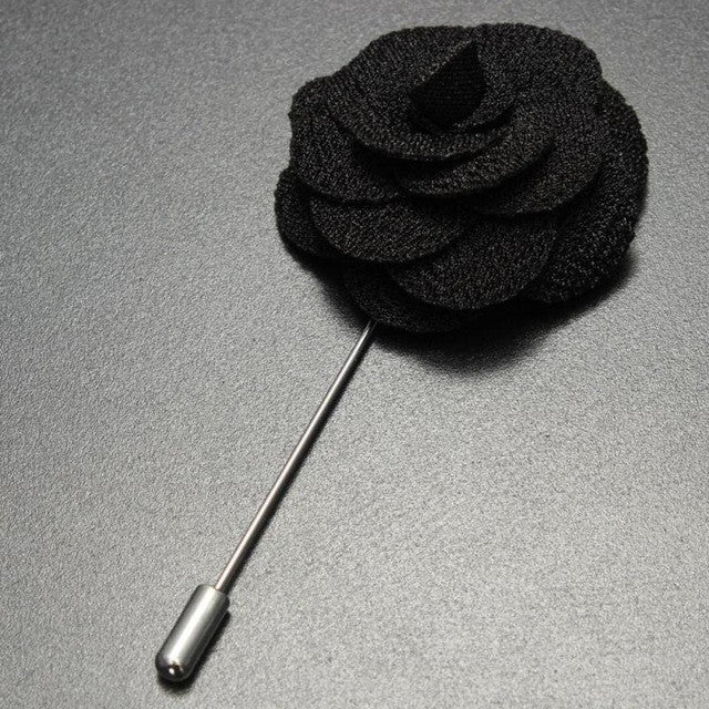 High Quality Handmade Flower Pin Mens Accessories