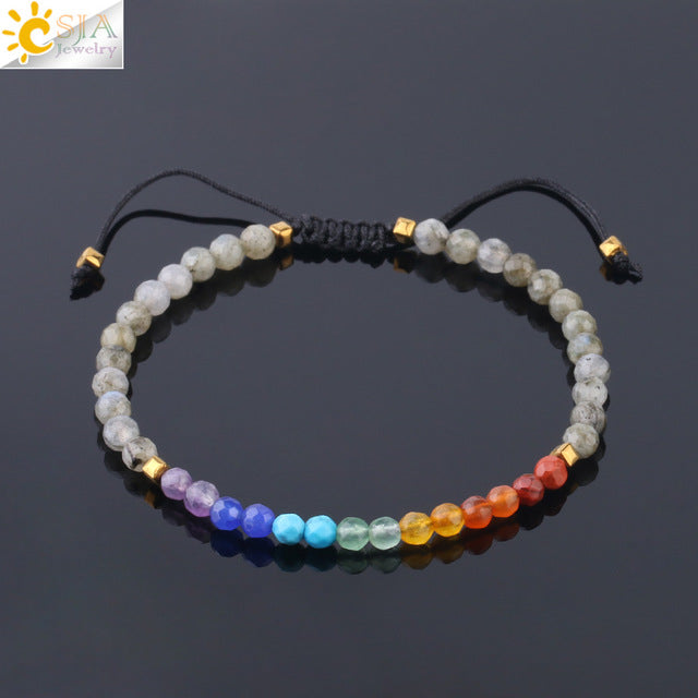 Simple Small Beads Bracelets 4mm Natural Stone