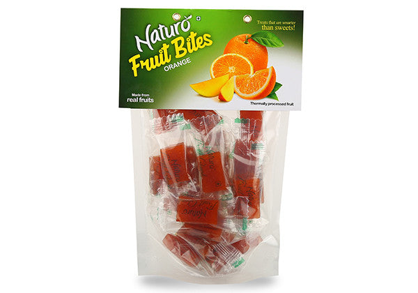 Naturo Orange Fruit Bites Stand-up Pouch 360g