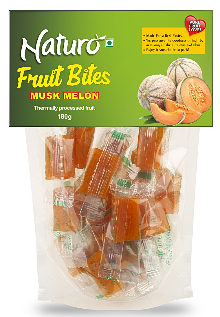 Muskmelon Fruit Bites Stand up Pouch - 180g