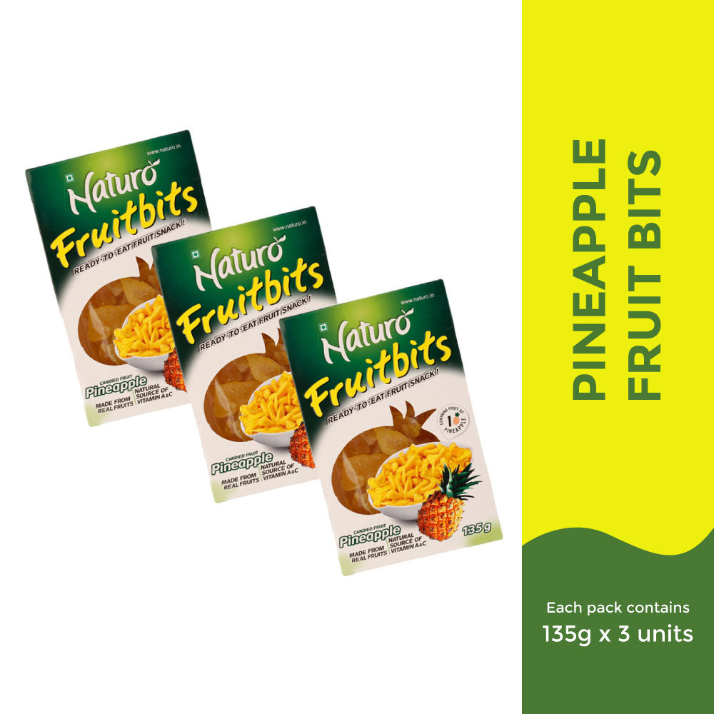 Naturo Pineapple Fruit Bits Combo- 405g
