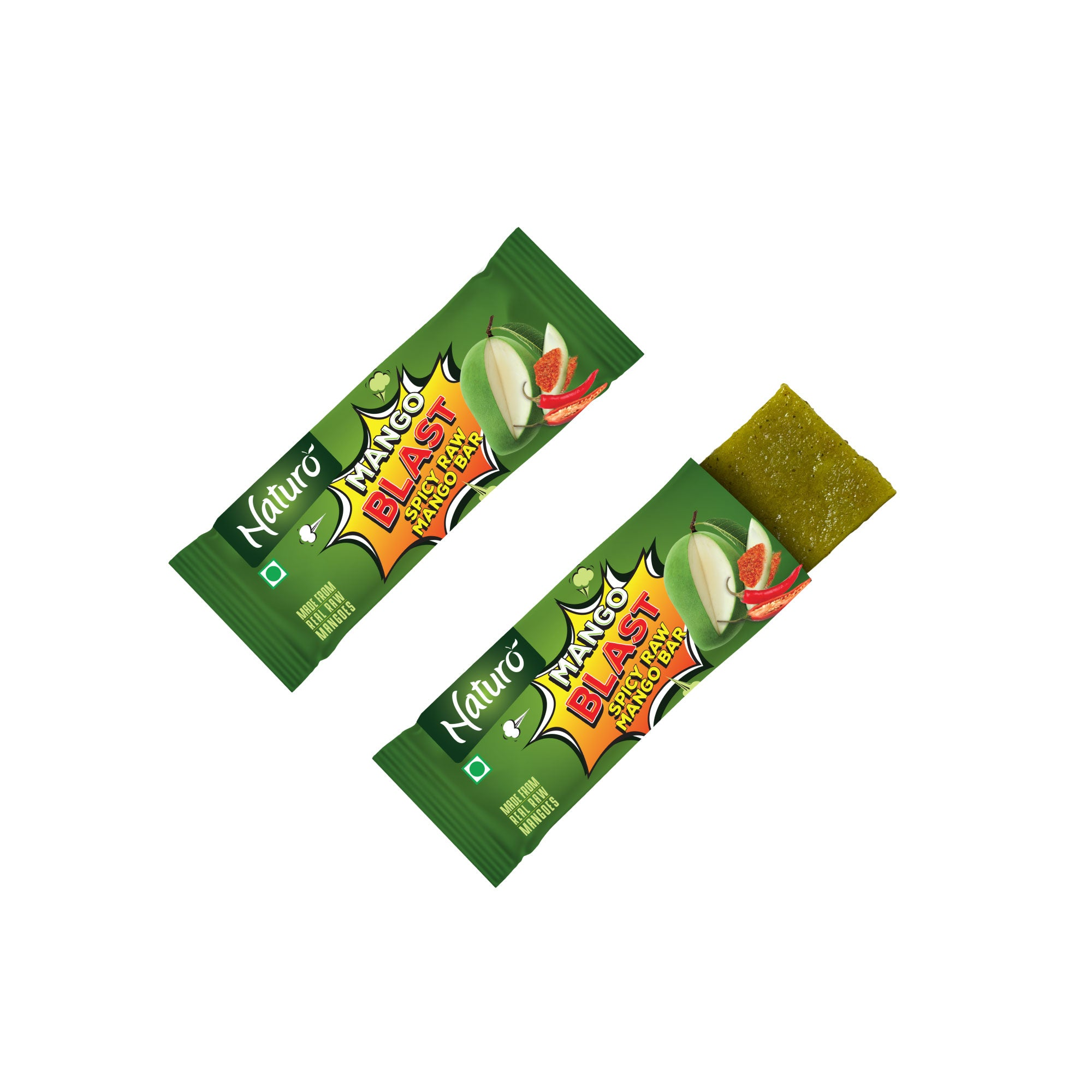 Naturo Mango Blast - Spicy Raw Mango Bar -10g