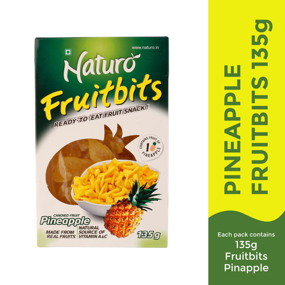 Naturo Fruitbits Pineapple- 135g