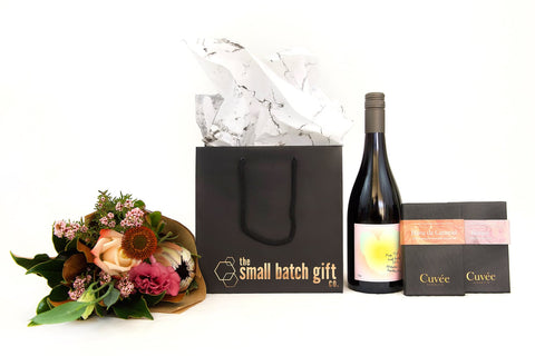 mother's day wine with paired chocolates PLUS hey there poppy flower posy
