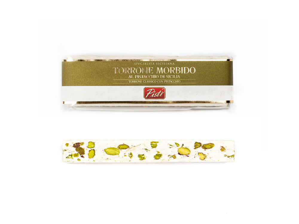 Torrone morbido al Pistacchio di Sicilia in flow-pack | Pisti Shop