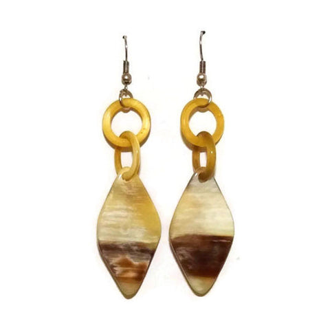 Mixed color Women's Buffalo Horn Earrings - Famigifts
