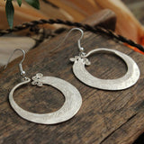 Handmade Hmong Earrings Engraved Asian Tribal