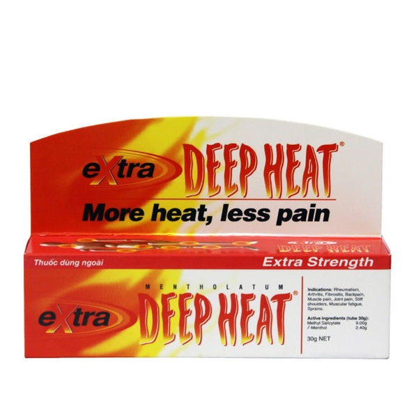 4 Tubes x 30g Deep Heat Gel - Extra Strength Pain Relief, Muscle pain - Famigifts