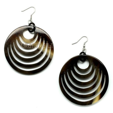 Natural color Women's Buffalo Horn Earrings - Famigifts