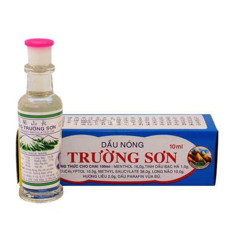 2 Bottles x 30ml Dau Nong Truong Son Medicated Heat Oil Pain Relief, cough, cold - Famigifts
