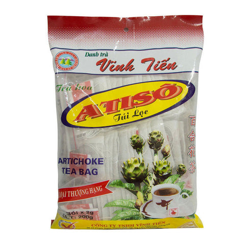 200g Premium Vinh Ten Artichoke Tea Bag - Tra Actiso helps cooling the livers - Famigifts