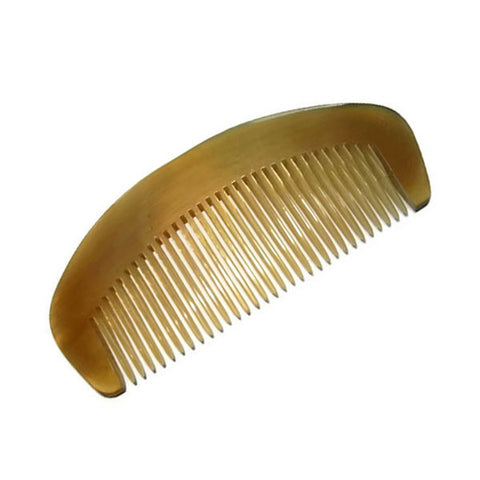 Buffalo Horn Hair Comb for all hair styles light color - best price