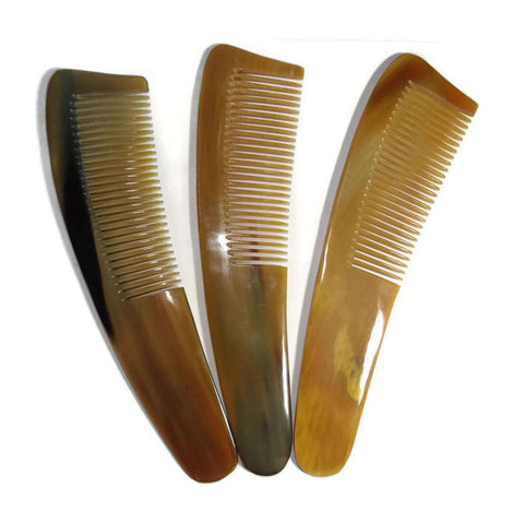 "100% Genuine Buffalo Horn Comb length 7"" -  handmade horn comb - Famigifts"