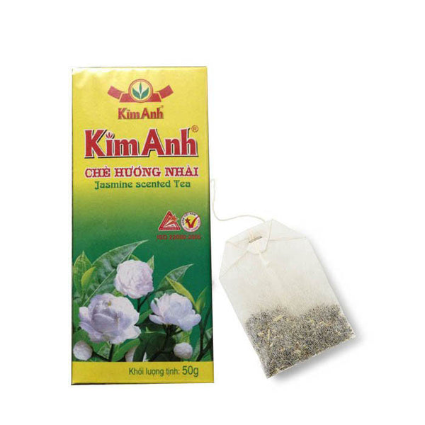 25 Bags x 2g Natural Jasmine Scented Tea - Vietnam Green Tea - Famigifts