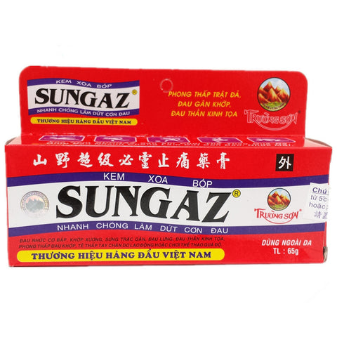 65g Sungaz Massage Cream Quick Muscles Pain Relief Best Choise - Famigifts