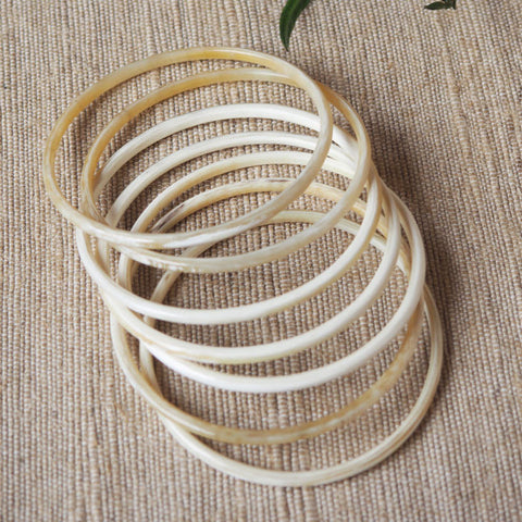 Genuine Horn Bangle Bracelets Set of 7 pieces