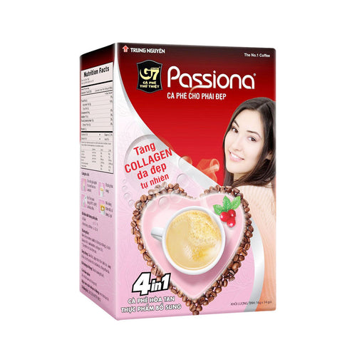 G7 Passiona - Collagen - Low-caffeine Sugar Free Instant Coffee