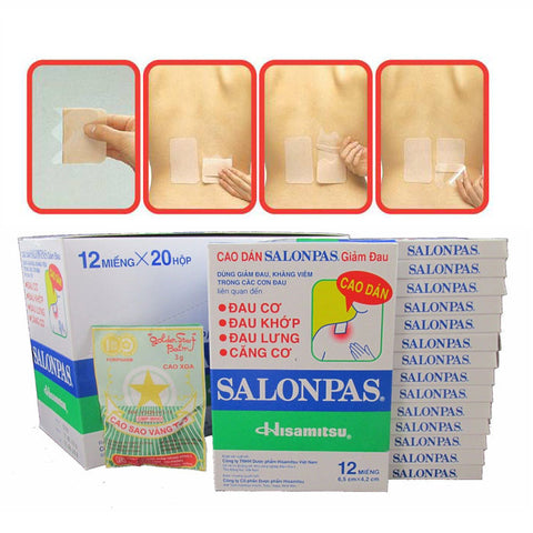 Lot 35x12 Patches Hisamitsu Salonpas® PainRelief Patch Muscle Pain Relief Plasters