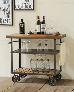 Iron Wood Diner Drink Trolley