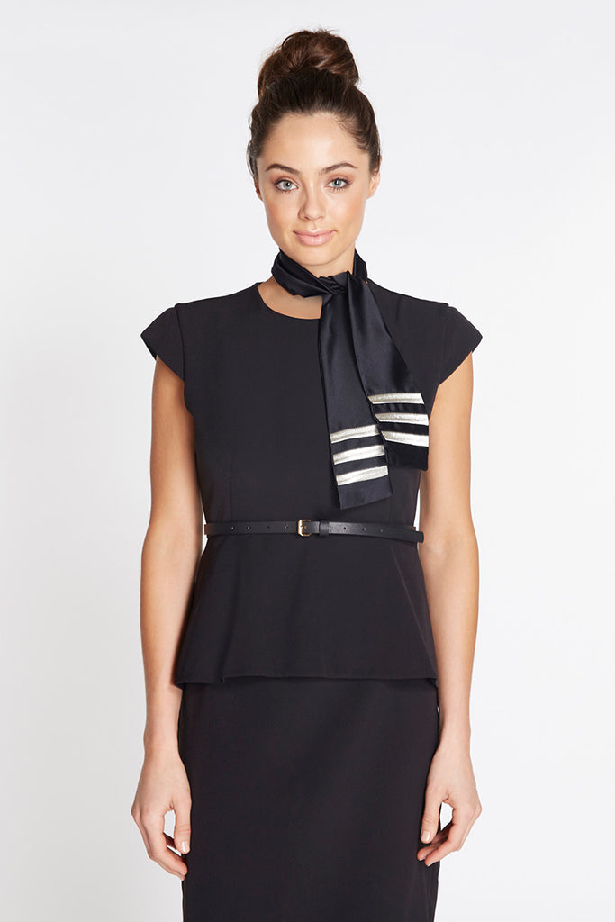 Peplum Dress with Tie