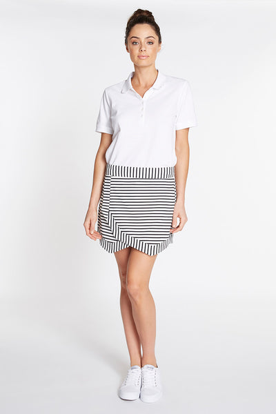 Tiered Stripe Skort