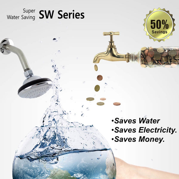 [SW-105CR] Folder Water-Saving Showerhead