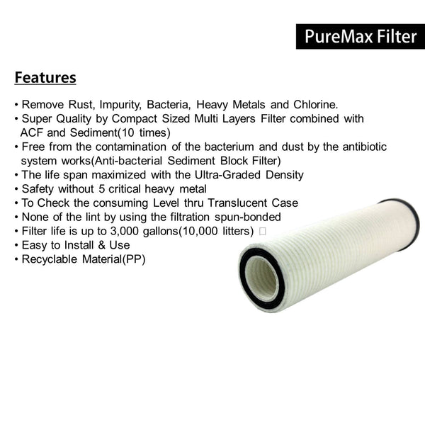 [PMF-03WP] PureMax Filter Set(3Pcs), Refill Filter for WP-200X
