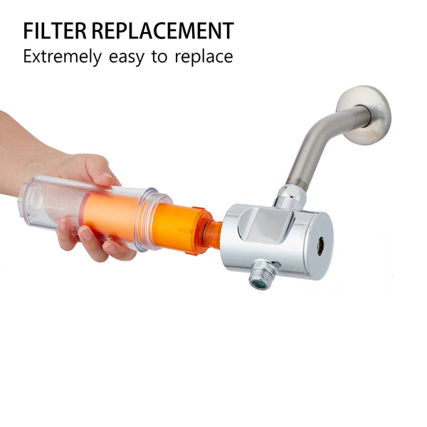 SUF-200V Vitamin C Inline Shower Filter - Compact & Universal Type