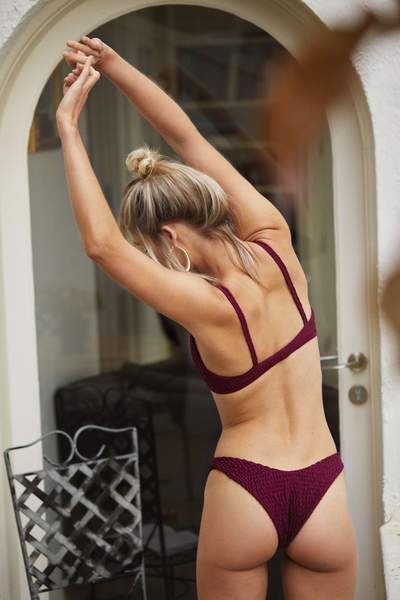 Cross Over Bikini - Merlot - Sauce Swim