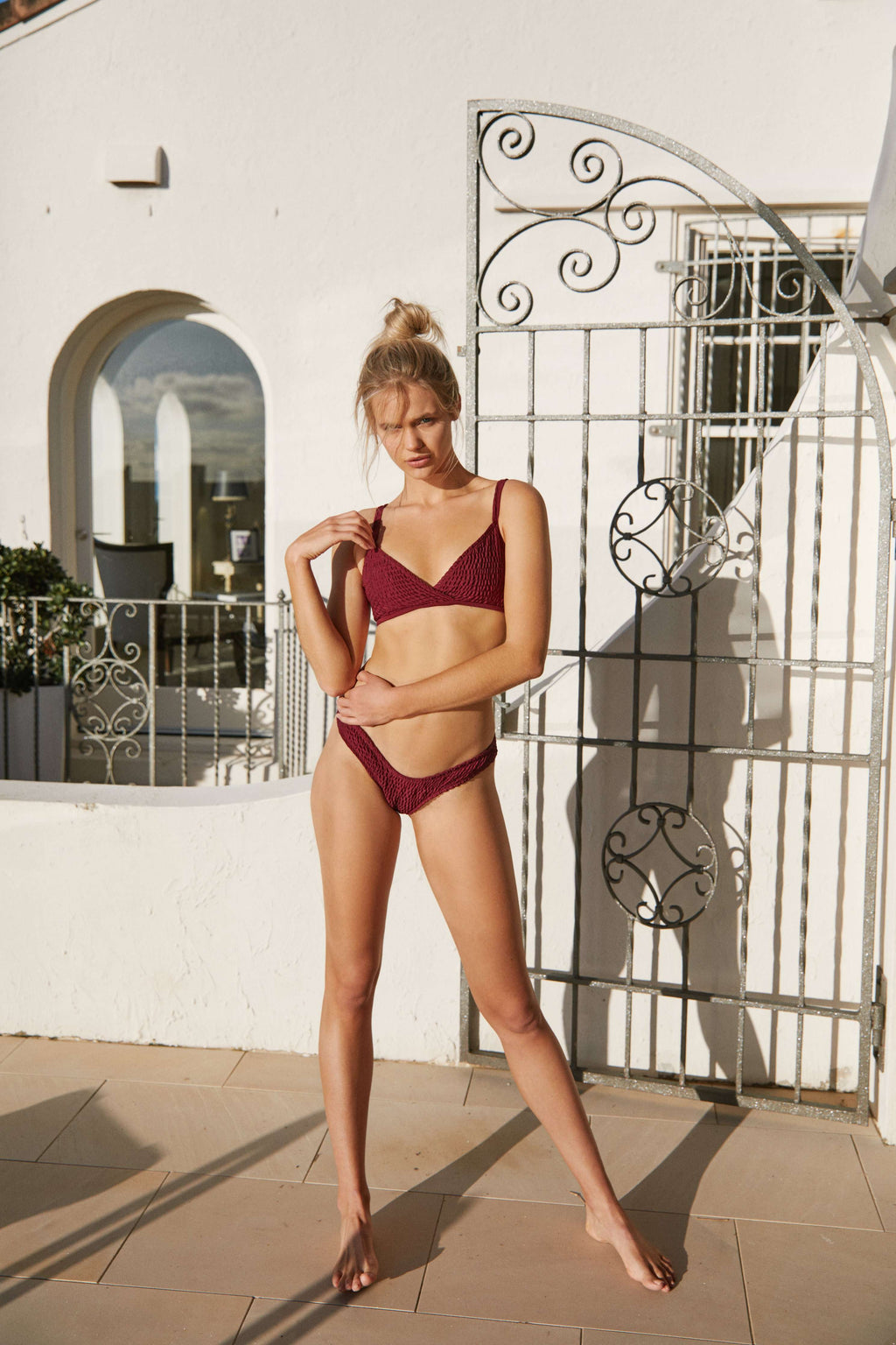 Cross Over Bikini - Merlot Top - Sauce Swim